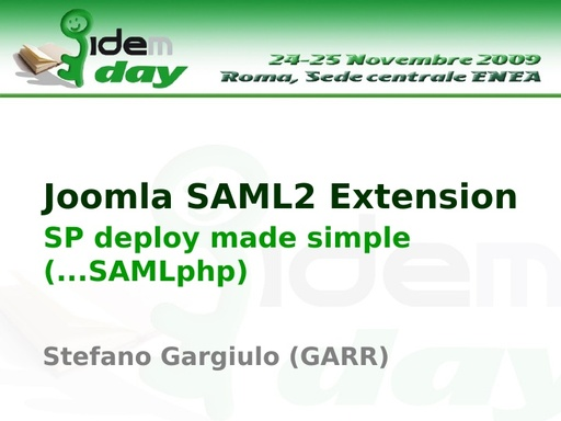 I IDEM Day - presentazione - odp - Gargiulo