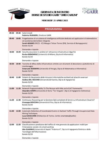 Programma Borsisti Day 13 - 2021