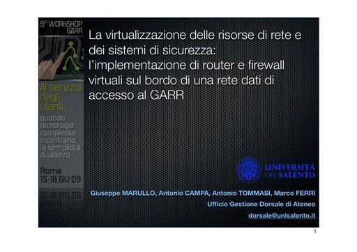 Ws09 - Presentazione - Marullo