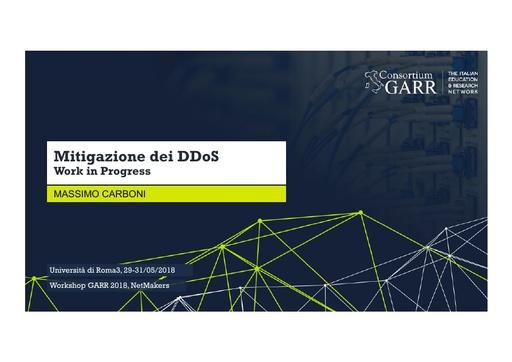 WS18 - M. Carboni - Mitigazione dei DDoS