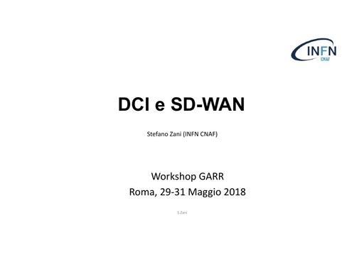 WS18 - S. Zani - DCI, SD-WAN Integration