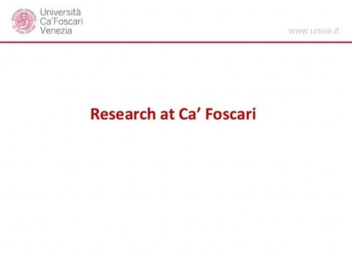 Conferenza GARR 2017 - Presentazione - Torsello