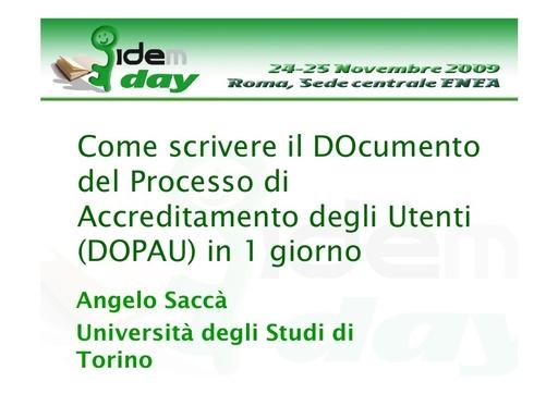I IDEM Day - presentazione - Saccà