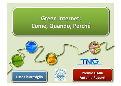 Conferenza GARR 2011 - Presentazione - Chiaraviglio