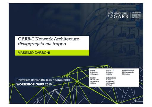 Workshop GARR 2019 - Presentazione - Carboni