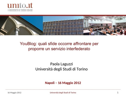 WS12 - presentazione - P. Laguzzi