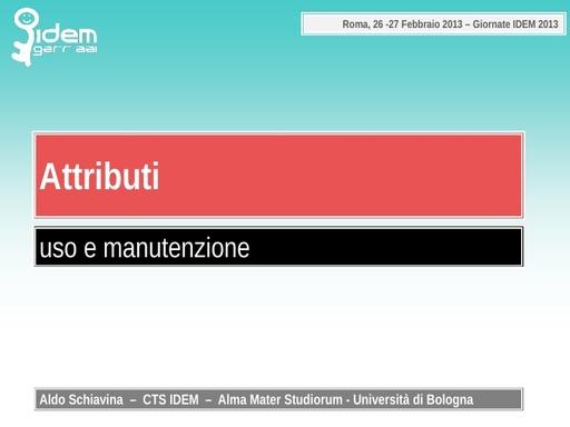 IV IDEM Day - presentazione - Schiavina A.