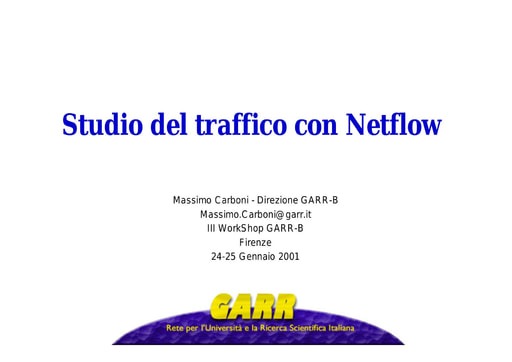 WS03 - Carboni - Studio del traffico con Netflow