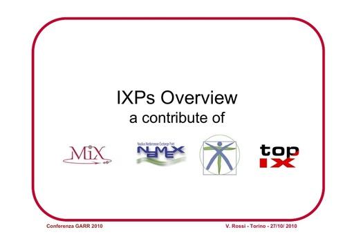 Conferenza GARR 2010 - Presentazione - Panel IXP
