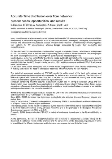 Conferenza GARR 2017 - Paper - Calonico