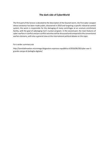Conferenza GARR 2016 - Paper - Siroli