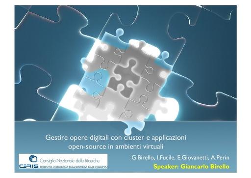 Conferenza GARR 2011 - Presentazione - Birello G.
