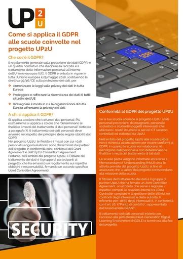 Up2U - 5 - Come si applica il GDPR alle scuole coinvolte nel progetto Up2U