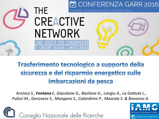 Conferenza GARR 2016 - Presentazione - Fontana