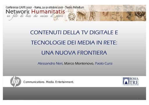 Conferenza GARR 2007 - Presentazione - Neri