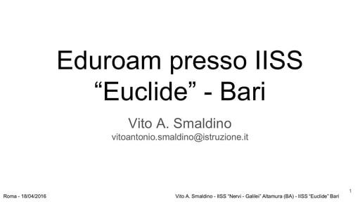 WS16 - CF Eduroam - slide Smaldino
