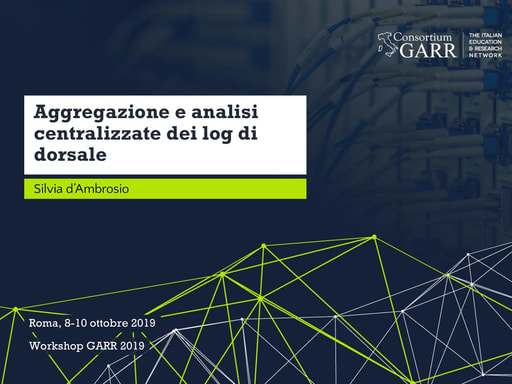 Workshop GARR 2019 - Presentazione - d'Ambrosio
