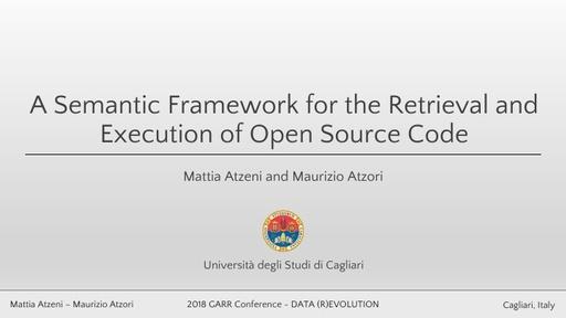 Conferenza GARR 2018 - Presentazione - Atzeni