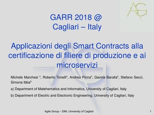 Conferenza GARR 2018 - Presentazione - Tonelli