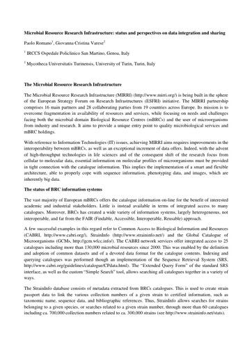 Conferenza GARR 2017 - Paper - Romano
