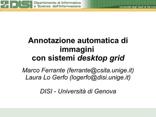 Conferenza GARR 2009 - Presentazione - Ferrante - Lo Gerfo
