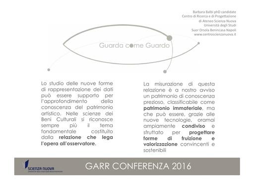 Conferenza GARR 2016 - Presentazione - Balbi