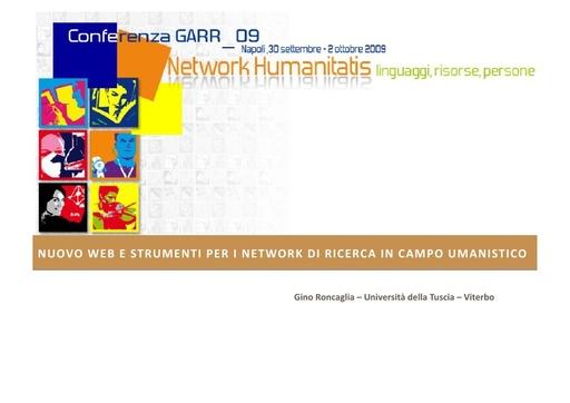 Conferenza GARR 2009 - Presentazione - Roncaglia - pdf