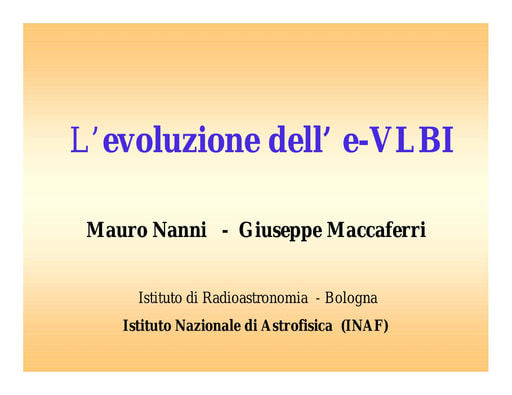 Conferenza GARR 2005 - Presentazione - Nanni - Maccaferri